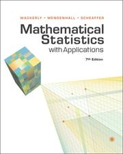 Cover of: Mathematical Statistics with Applications