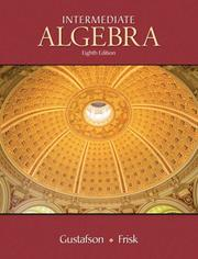 Cover of: Intetmediate algebra |