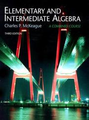 Cover of: Elementary and Intermediate Algebra, Non-media Edition