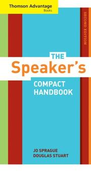 Cover of: The speaker's compact handbook