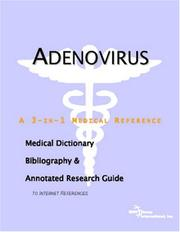Cover of: Adenovirus - A Medical Dictionary, Bibliography, and Annotated Research Guide to Internet References