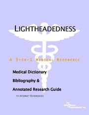 Cover of: Lightheadedness