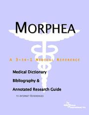 Cover of: Morphea - A Medical Dictionary, Bibliography, and Annotated Research Guide to Internet References