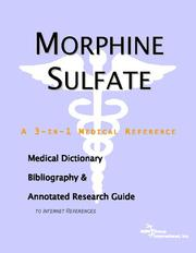 Cover of: Morphine Sulfate | ICON Health Publications