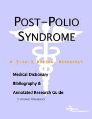 Cover of: Postpolio Syndrome | ICON Health Publications