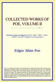 Cover of: Collected Works of Poe, Volume II