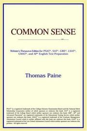 Cover of: Common Sense
