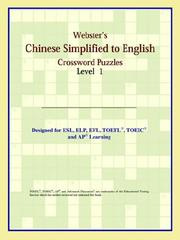 Cover of: Webster's Chinese Simplified to English Crossword Puzzles