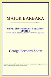 Cover of: Major Barbara