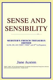 Cover of: Sense and Sensibility