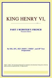 Cover of: King Henry VI, Part I