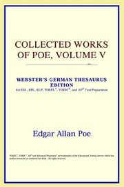 Cover of: Collected Works of Poe, Volume V