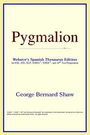 Cover of: Pygmalion