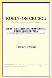 Cover of: Robinson Crusoe