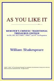 Cover of: As You Like It (Webster