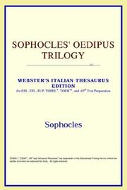 Cover of: Sophocles' Oedipus Trilogy