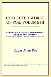 Cover of: Collected Works of Poe, Volume III