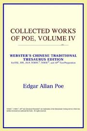 Cover of: Collected Works of Poe, Volume IV