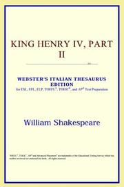 Cover of: King Henry IV, Part II