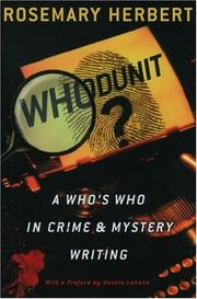Cover of: Whodunit?