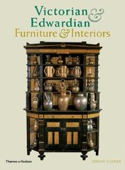 Cover of: Victorian and Edwardian Furniture and Interiors | Jeremy Cooper