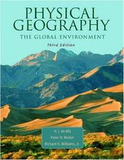 Cover of: Physical geography of the global environment