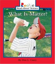 Cover of: What Is Matter?