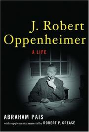Cover of: J. Robert Oppenheimer