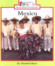 Cover of: Mexico (Rookie Read-About Geography) | Robert F. Marx