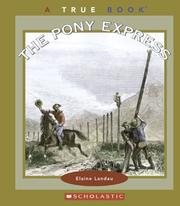 Cover of: The Pony Express: a true book