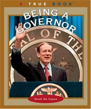 Cover of: Being a Governor