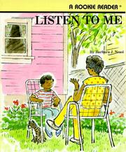 Cover of: Listen to Me | Barbara J. Neasi