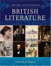 Cover of: The Oxford encyclopedia of British literature |