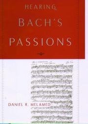Cover of: Hearing Bach's Passions
