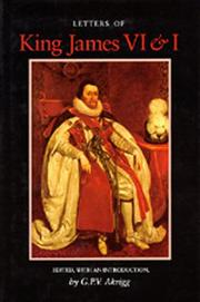Cover of: Letters of King James VI & I