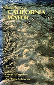 Cover of: Competition For California Water