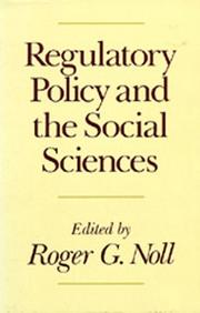 Cover of: Regulatory policy and the social sciences |