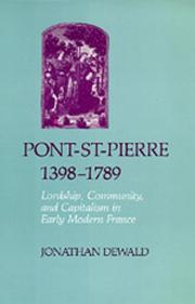 Cover of: Pont-St-Pierre, 1398-1789