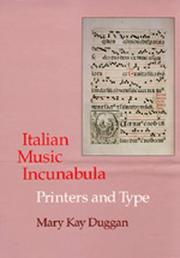 Cover of: Italian Music Incunabula | Mary Kay Duggan