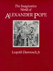 Cover of: The imaginative world of Alexander Pope