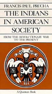Cover of: The Indians in American society