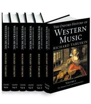 Cover of: The Oxford History of Western Music | Richard Taruskin