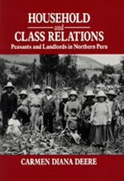 Household and class relations by Carmen Diana Deere