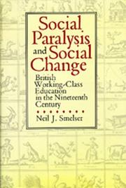 Cover of: Social paralysis and social change