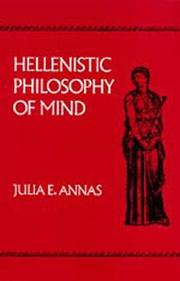 Cover of: Hellenistic philosophy of mind