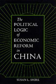 Cover of: The political logic of economic reform in China