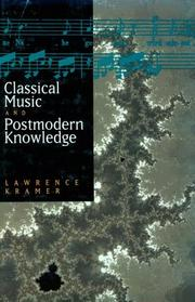 Cover of: Classical music and postmodern knowledge