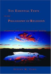 Cover of: Ten Essential Texts in the Philosophy of Religion | Steven M. Cahn