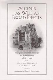 Cover of: Accents as well as broad effects