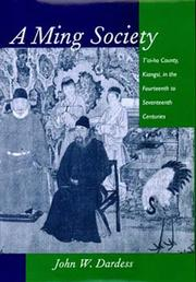 Cover of: A Ming Society | John W. Dardess